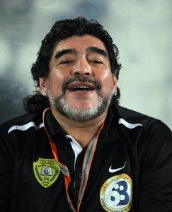 Al Wasl's Argentinian coach Diego Maradona. &copy Ureinwohner