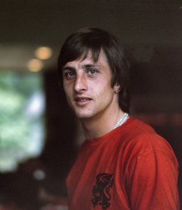 Cruyff with the Netherlands in 1974