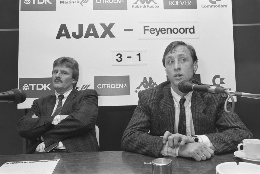 Cruyff as manager of Ajax in 1987