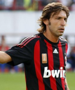 Pirlo playing for Milan in 2008. &copy Рыбакова Елена