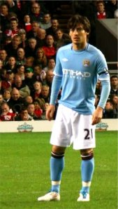 Silva with Manchester City in April 2011 &copy Hans17